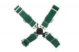 Bezpečnostný pás Pro Sport 4-bodový zelený - 50mm