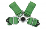 Bezpečnostný pás Pro Sport 4-bodový zelený - 76mm
