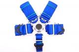 Bezpečnostný pás Pro Sport 5-bodový modrý - 76mm
