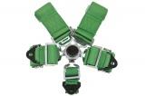 Bezpečnostný pás Pro Sport 5-bodový zelený - 76mm