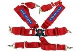 Bezpečnostný pás Pro Sport 6-bodový červený - 76mm (FIA)