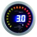 Prídavný budík Depo Racing Digital 2in1 - tlak turba elektronický + teplota výfukových plynov (EGT)