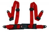 Bezpečnostný pás Pre Sport Monza 4-bodový červený - 50mm (E)