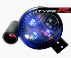 Prídavný budík Type-R - tachometer (125mm) sa shift Lightem 4in1 - čierny panel