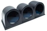 Držiak na palubovku Depo Racing pre 3 prídavné budíky 52mm - čierny