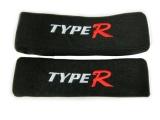 Opierka šije s nápisom Type-R - čierna
