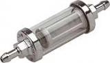 Chrómový benzínový filter 6mm