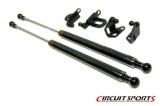 Karbónové vzpery kapoty Circuit Sports Mitsubishi Lancer Evo 7/8/9 (01-08)