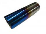 Koncovka výfuku guľatá rovná s titánovým efektom - priemer 76mm