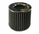 Športový filter univerzálny 76mm strieborný (kovový)