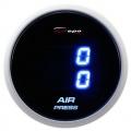 Prídavný budík Depo Racing Digital Blue LED - duálny tlak nasávaného vzduchu