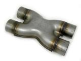 X redukcia VMS Racing nerez 2 x 76mm> 2 x 76mm